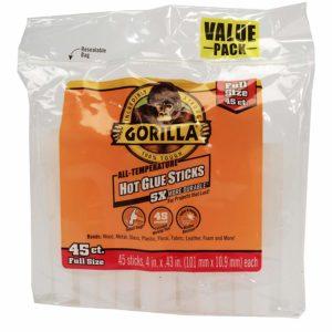 Gorilla Hot Glue Sticks, Full Size