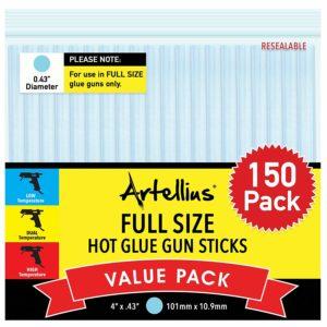 Full Size Hot Glue Gun Sticks Artellius